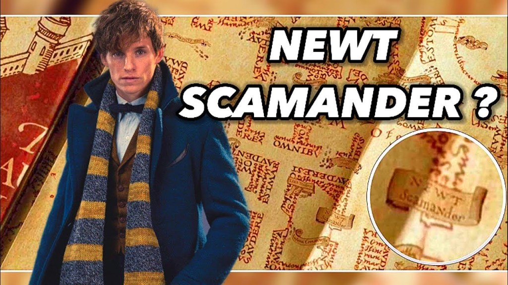 Scene showing the Marauders Map for the first time. The first time you see the map when Fred and George give Harry the map and open it, you see the name Newt Scamander. Facts of hary potter & Prisoner of azkaban