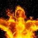 Año Nuevo con el Fuego Flameante