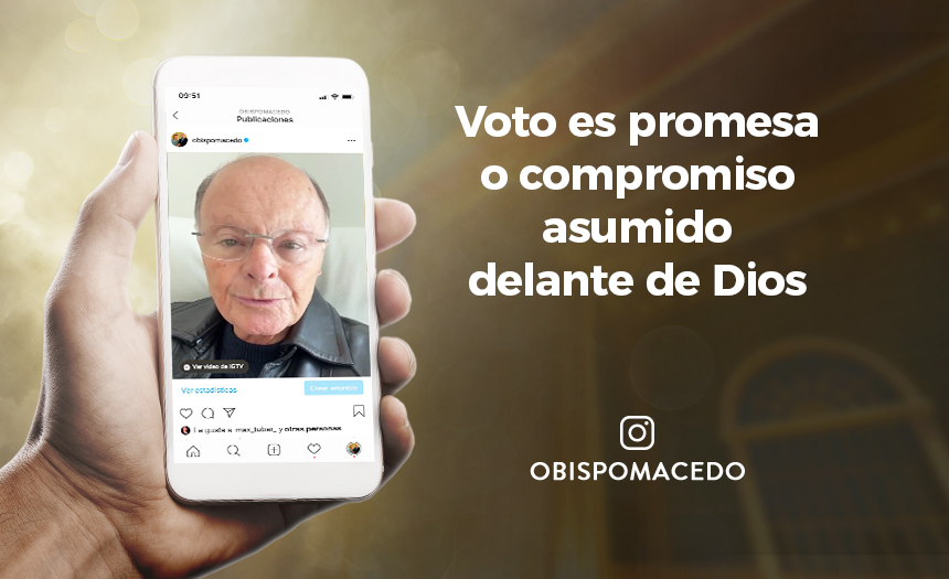 Voto es promesa o compromiso asumido delante de Dios