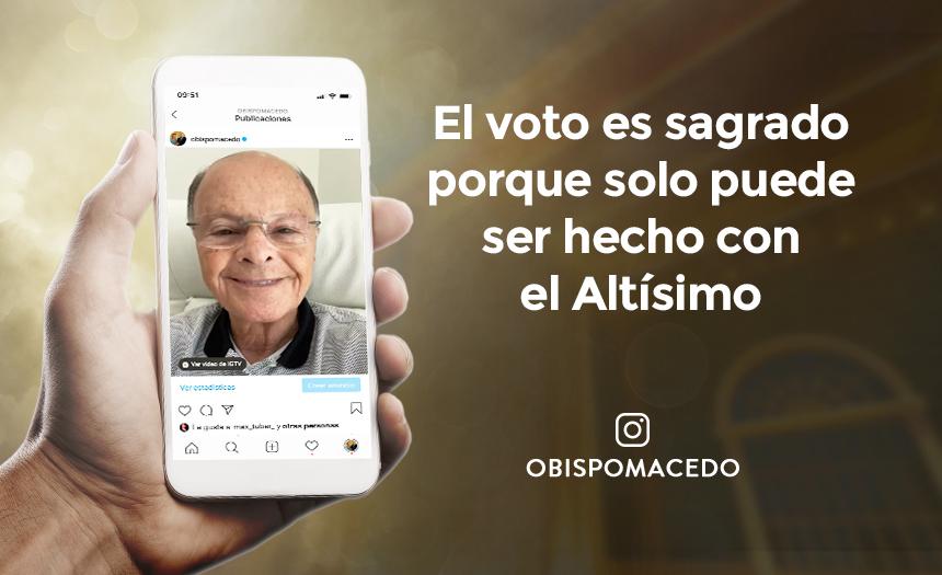 El voto es sagrado porque solo puede ser hecho con el Altísimo