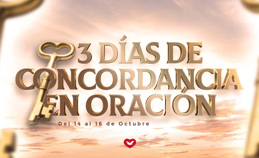 Tres días de concordancia en oración
