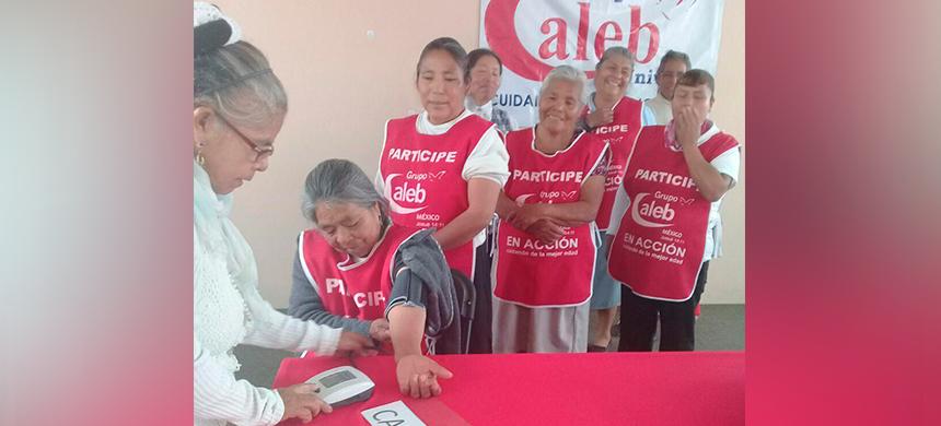 El grupo caleb continúa su labor de incentivar y cuidar a los de la tercera edad