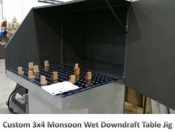 3x4-monsoon wet downdraft table hinged