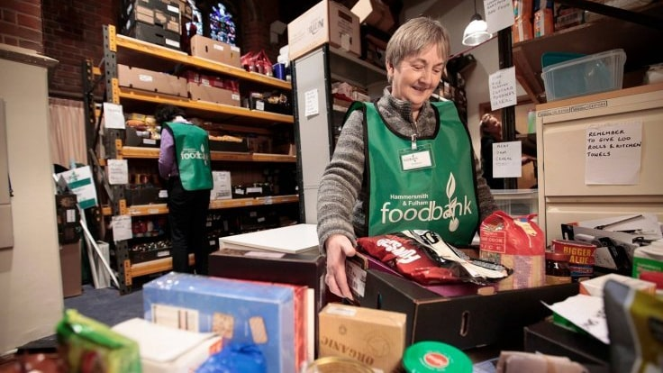 Foodbanks in full Universal Credit areas see 52% increase in use and are feeling the strain.