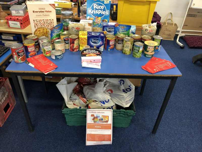 St. Andrew's Primary & Nursery in Airdrie joined the #FoodBankChallenge and my, did they deliver.