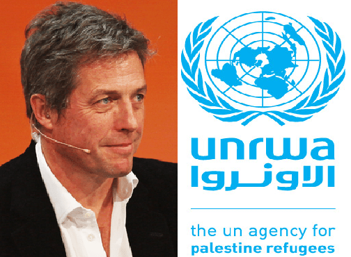 Hugh Grant knocks Trump decision to defund Palestinian Refugee Agency