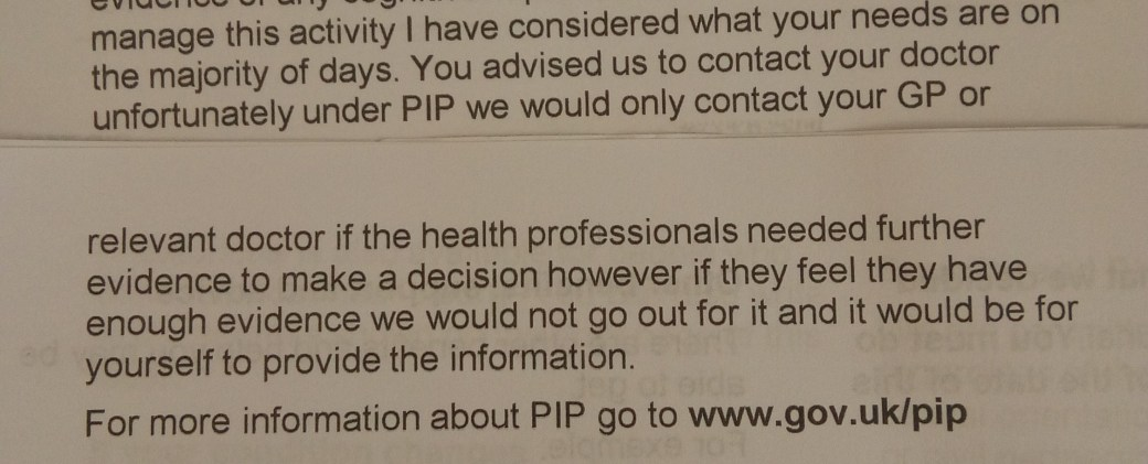 The end of my Mandatory Reconsideration Letter from DWP - A. Tiffin