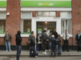 Jobcentre Plus Exterior with Logo on sign