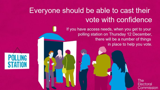 This is a graphic stating that; Everyone Should Be able to Cast their vote with confidence.