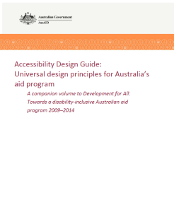 front cover of the DFAT Guideliens for aid programs