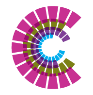 logo of Centre for Excellence in Universal Design in Ireland, purple colour circular design.