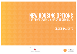 New Housing Options Summer Foundation