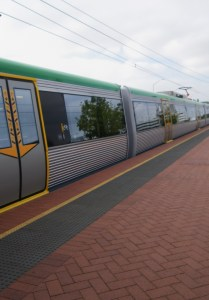 Train leaving Murdoch Station