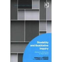 Disability and qualitative inquiry book cover