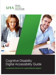 Front cover of the cognitive disability media access guide