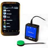Picture of a smart phone and attachment for home controls