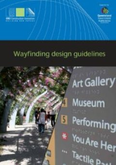 front cover of the wayfinding design guidelines.