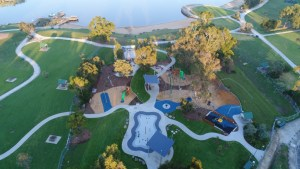 Aerial photo of Lillydale Lake Playspace