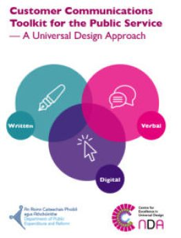 Front cover of the toolkit with three overlapping circles, bright pink, purple and turquoise.