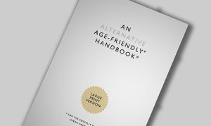 Front cover of the handbook. Simple layout white with black text