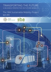 Front cover of the report with blue background and techno graphics