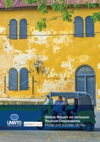 Front cover of the report showing a yellow two storey building with blue doors and shutters. A man sits in a tuk tuk outside.