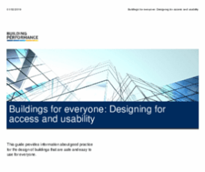 Front cover of the New Zealand resource. Building accessibility
