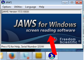A computer page showing JAWS for Windows screen reader home page