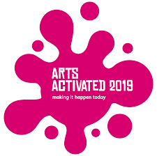 logo for the conference. Bright pink with white text.