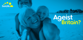 Front cover of the Ageist Britain report from SunLife.