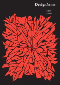 Front cover of the journal. A black background with an orange abstract design.
