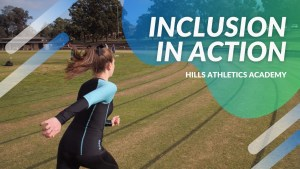 Summer is on a grass track and is running in a track lane. Athletics clubs can be inclusive.