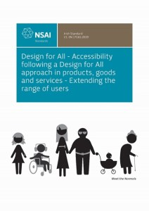 Front cover of the Design for All standard.