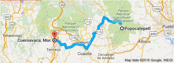 Cuernavaca to Popo