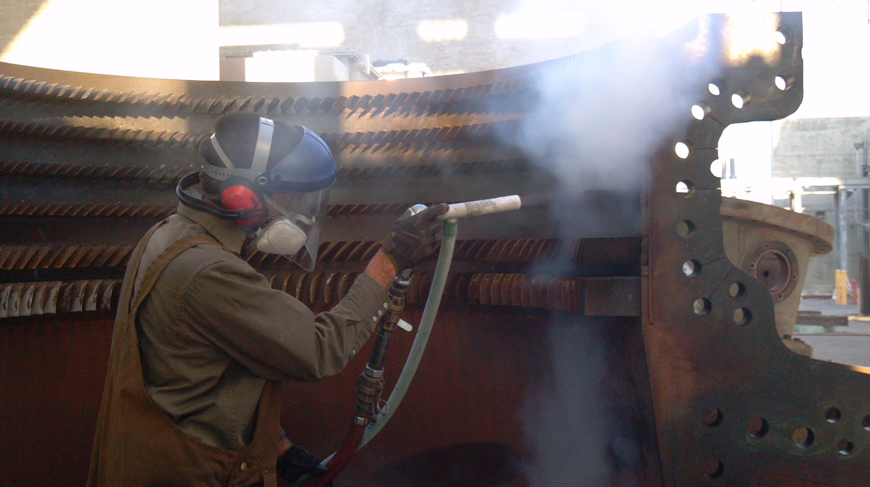 Dry Ice Blasting Turbine Case and Blades
