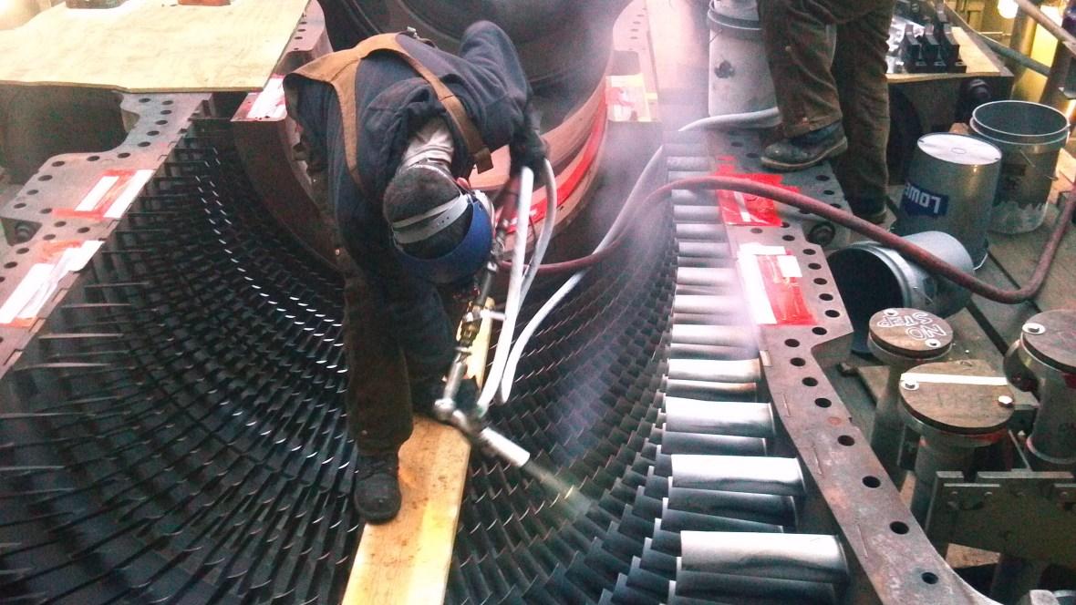 Gas Turbine Case Dry Ice Blasting