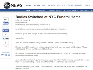 Bodies switched at NYC