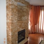 Stone fireplace finishing