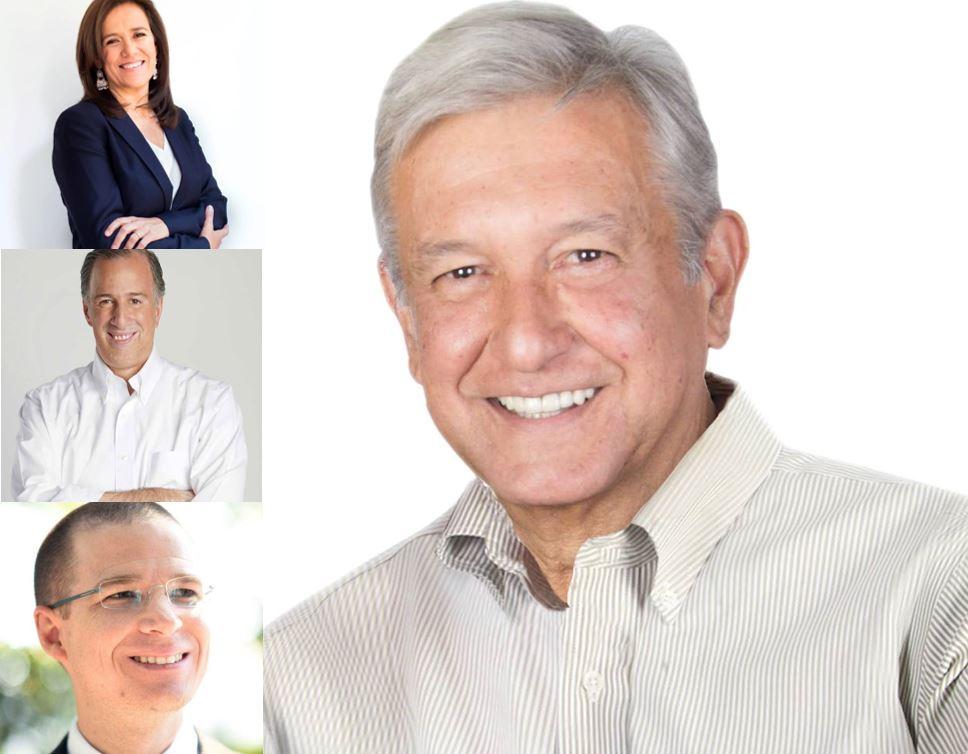 Candidatos a presidencia mexicana