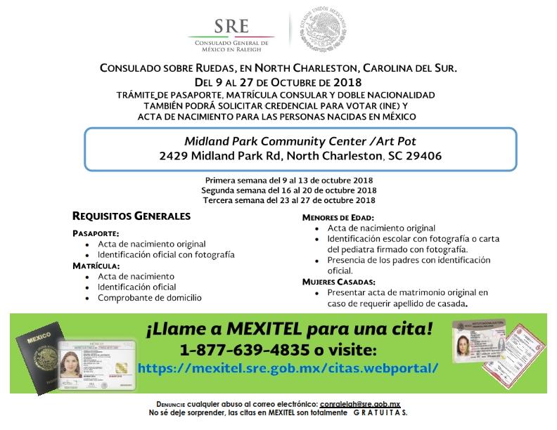 Consulado de México sobre ruedas en North Charleston del 9