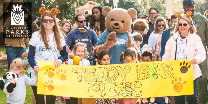Teddy Bear  Picnic en el  Hampton Park el 3 de marzo