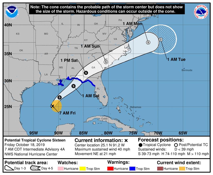 Tormenta del Golfo traerán vientos y lluvias a Carolina del Sur para este fin de semana