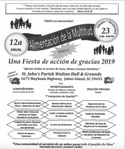 """Celebrarán Día de Acción de Gracias """"Alimentando a la  Multitud"""" GRATIS"""