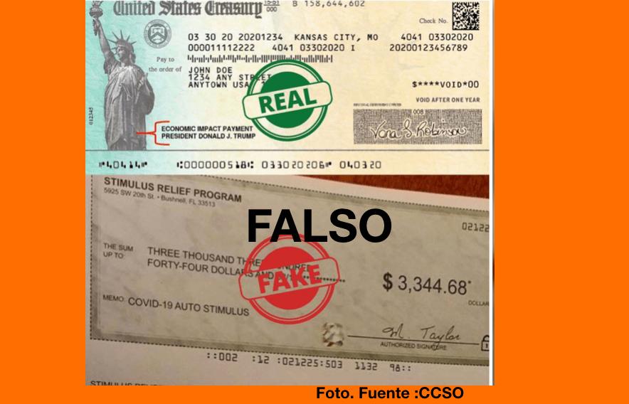 Autoridades alertan sobre estafadores que usan cheques falsos de estímulo para robar dinero