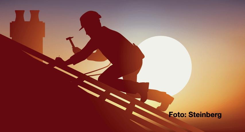 Abogados de Steinberg dicen que, las caídas desde un techo pueden significar que usted tenga derechos de recompensa al trabajador