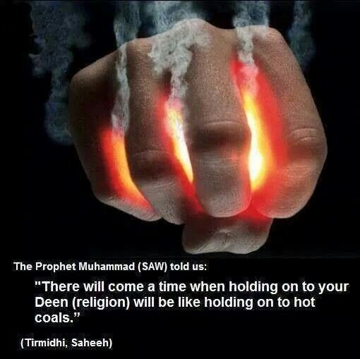 Image result for holding onto your faith will be holding onto hot coals