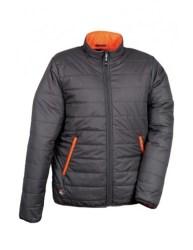 naranja oscuro gris acolchada turin chaqueta