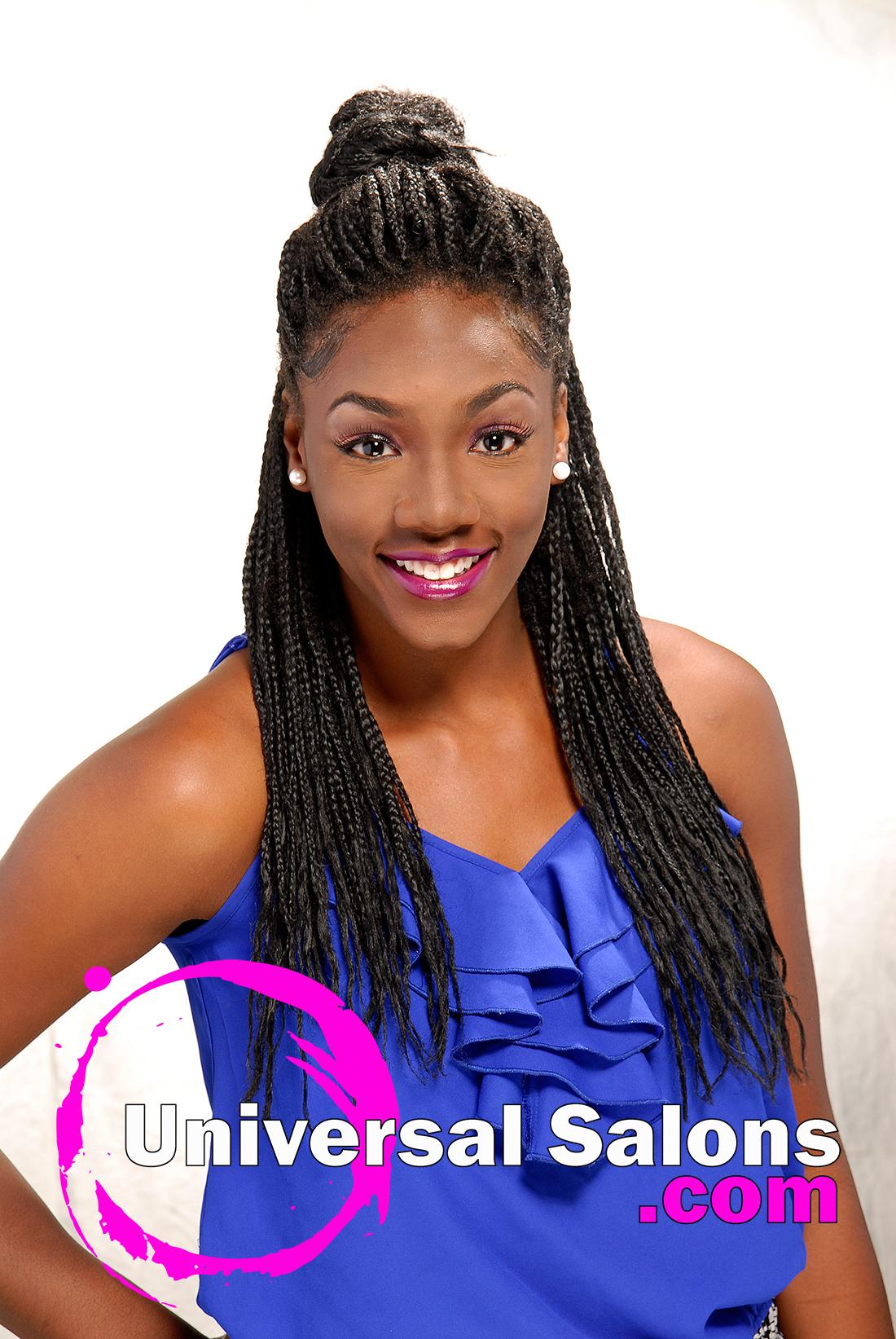 Tonisha Kenty S Natural Half Up Half Down Hairstyle