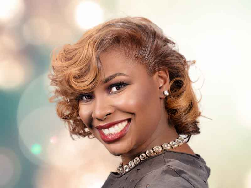 Blonde Hair Color For African American Women From Lacey Singleton