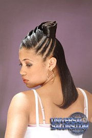 long hairstyle with twist